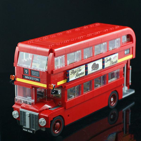 top popular In stock 21045 1686pcs Creator City Series London Bus Building Building Blocks Bricks Toys Comptible 10258 2021