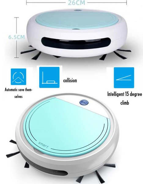 top popular Home 4 in 1 Rechargeable Auto Cleaning Robot Smart Sweeping Robot Dirt Dust Hair Automatic Cleaner For Electric Vacuum Cleaners Y200320 2021