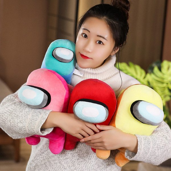 top popular 20cm Cartoon Game Peripheral Pillow Among Us Doll Among Us Plush Toys Boys and Girls Christmas Gifts OOF3418 2021