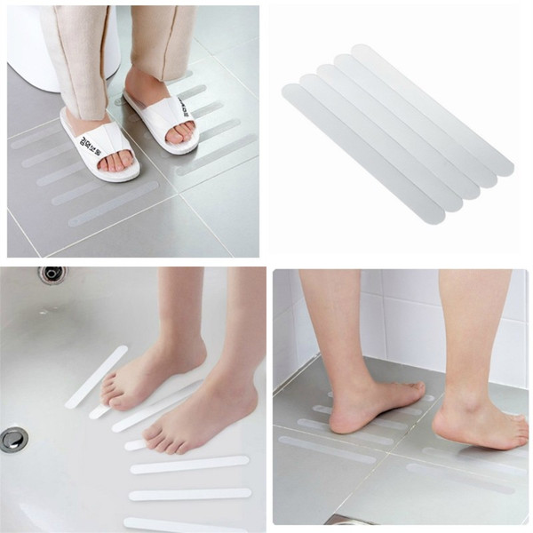 top popular Anti Slip Tape Five Pieces Clothing Shower Room Stairs Steps Bathtub Adhesive Tape Transparent Antiskid Strip Hot Selling 2 5jd P1 2021