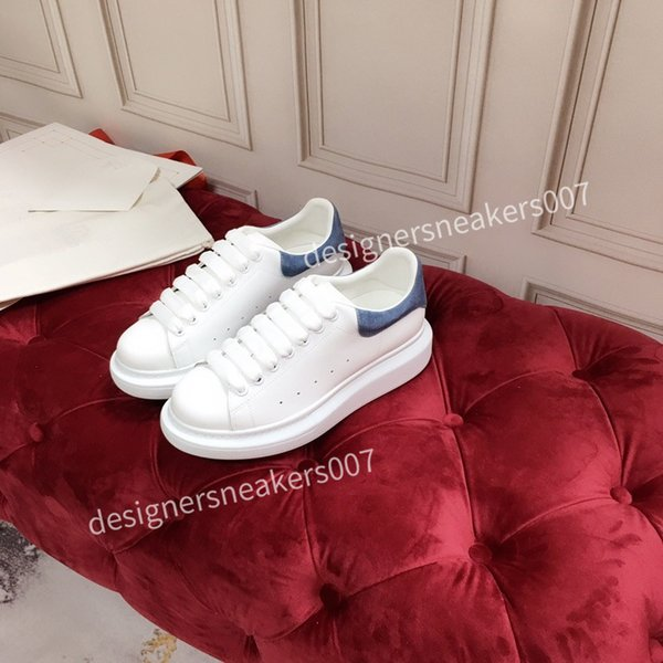 2021NEW WomenS Shoes Men's Leather Lace Up Platform Oversized Sole Sneakers White Black Casual hc191001