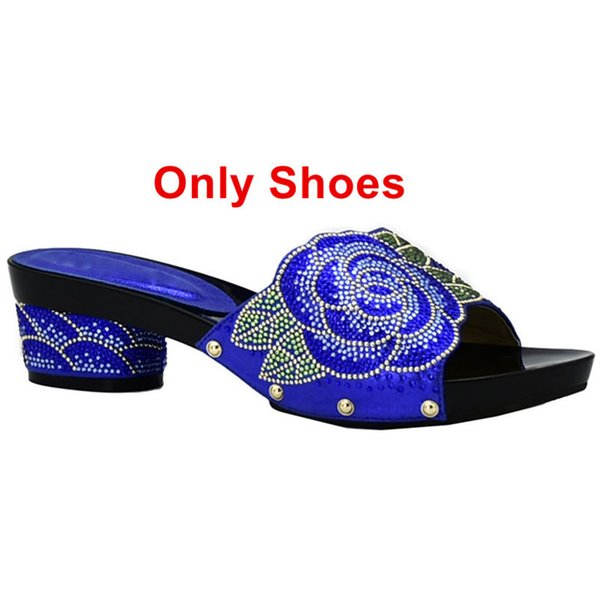 Zapatos azules solo