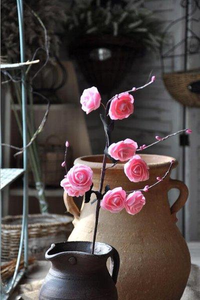 hojas rosadas negras