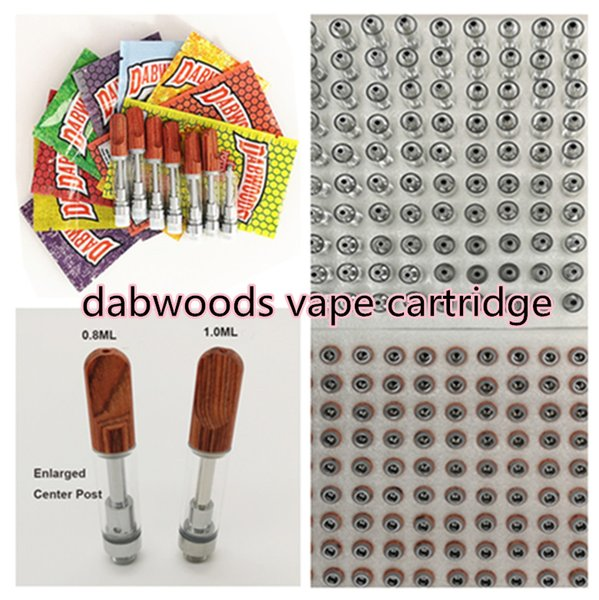 top popular Dabwoods Vape Cartridges 510 Thread Battery 1ml Cartridge 0.8ml Dabwoods Ceramic Carts Wood Mouthpiece Empty Electronic Cigarettes Atomizers 2021