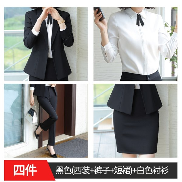 Black (suit Skirt Trousers) White