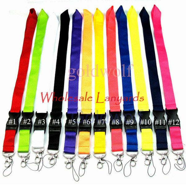 best selling Universal Lanyards For Cell Phone ID Card Keychain Straps Detachable Hanging Good Quality Lanyard DHL Free Shipping
