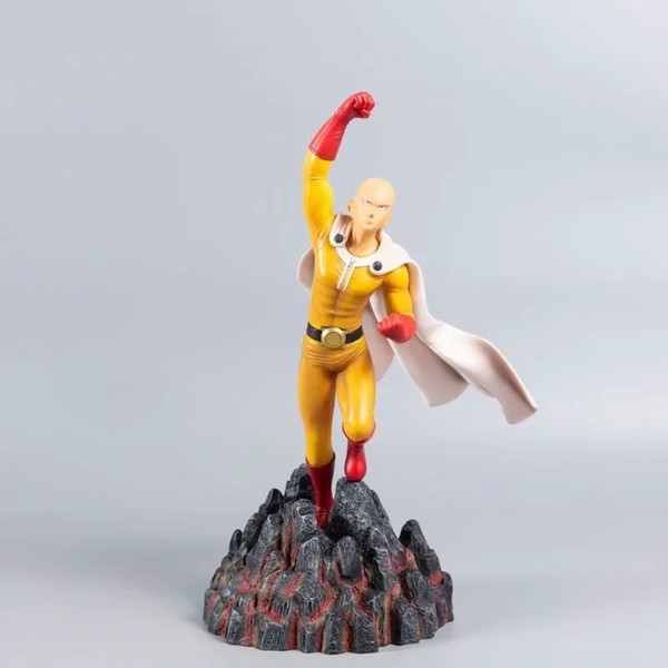 top popular 18-30cm One Punch Man Figure Toys Saitama Sensei Anime Figure PVC Action Figure Collectable Model Toys Christmas Gift X0121 2021