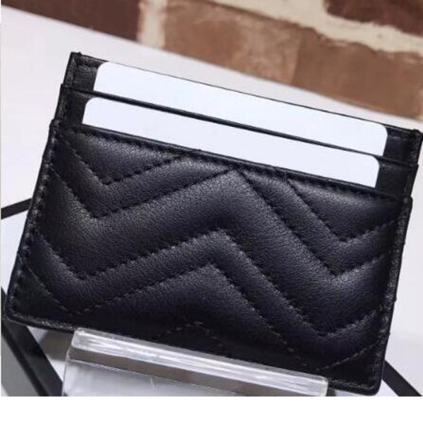 best selling Genuine Leather Luxurys Designers Fashion Men Women's Card Holders Black Lambskin Mini Wallets Coin Purse Pocket Interior Slot Pocket