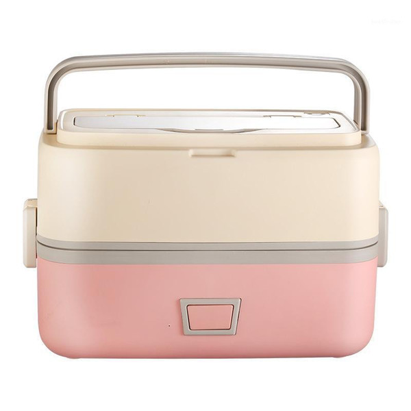 top popular Double-layer Lunch Box Electric Mini Rice Cooker Portable Heating Cooking Pot Insulation Dinnerware Container Warmer1 2021