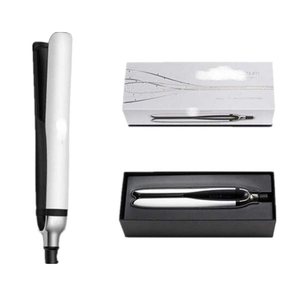 best selling IN Stock Platinum Hair Straightener Professional Styler Flat Hair Iron Straighteners Hair Styling Tool White Black Color with Retail Pack