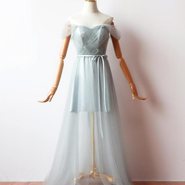 New Arrival Sweetheart Sister Guest Ankle-length Green Gray A-line Chiffon Illusion Cocktail Dresses Cocktail Dress Party