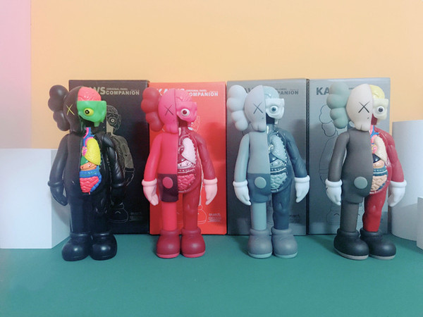 best selling HOT 20CM 0.25KG Originalfake KAWS 8inches Dissected Companion Original Box KAWS Action Figure model decorations toys gift