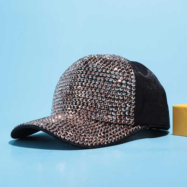 Sombrero de tela de diamante negro + oro