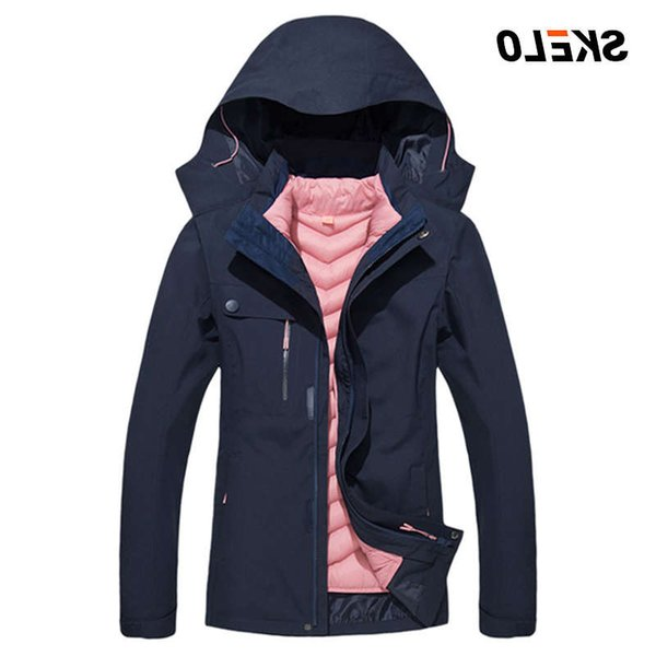 top popular 2020 Women's Waterproof Windproof Warm Winter Snow Coat Mountain Hoodies Ski Suit For Women Down Snowboard Jacket 2021