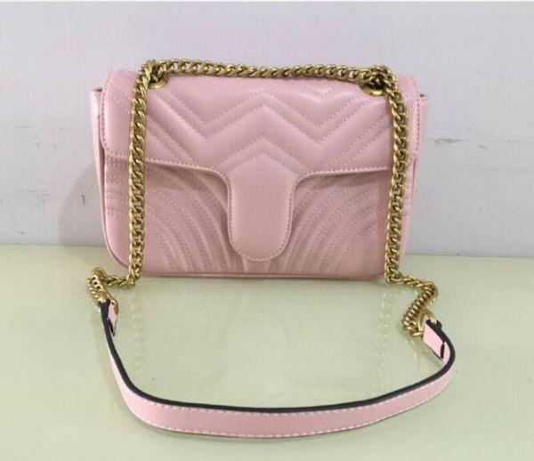 Cadena rosa / dorada
