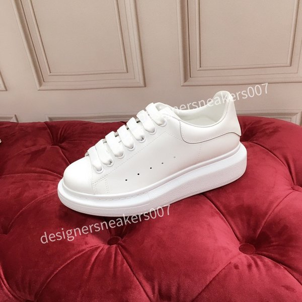 2021the new Men Leather Lace Up Platform Oversized Sole Sneakers White Black Casual hc191001