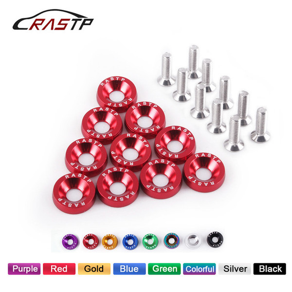 Wholesale aluminum fender washers resale online - Auto Replacement Parts Nuts amp Bolts RASTP JDM Style Fender Washers Aluminum Washers And M6 Bolt for Honda Civic Integra RSX