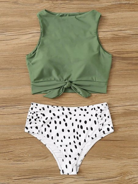 1 Green leopard spot