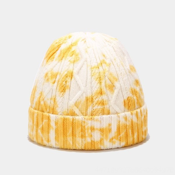 Wave Yellow And White Tie Dye-M(56-58cm)