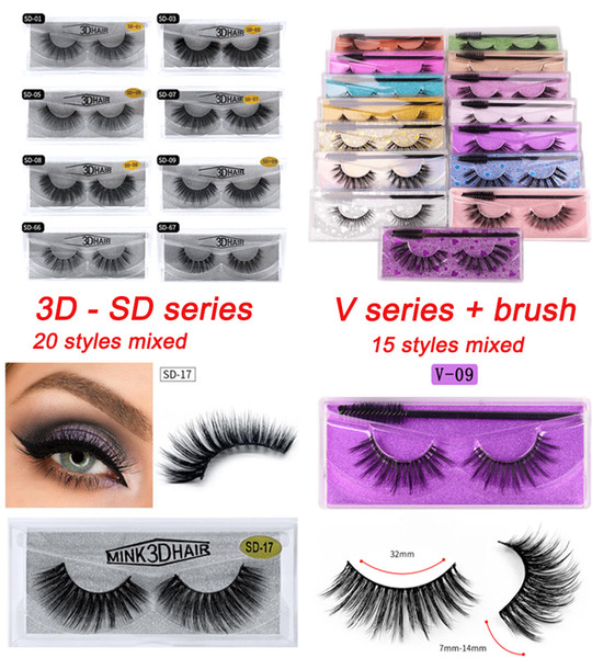 top popular Imitated Mink eyelashes 20 styles 3D False Eyelashes Soft Natural Thick Fake Eyelash 3D Eye Lashes mink false eyelash 2021