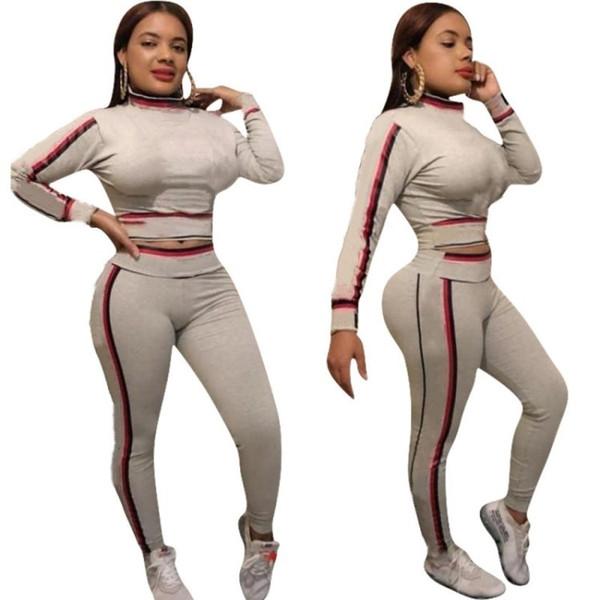 top popular women designer tracksuit long sleeve outfits hoodie legging two piece set skinny sweatshirt tights sport suit pullover pants hot klw0547 2021