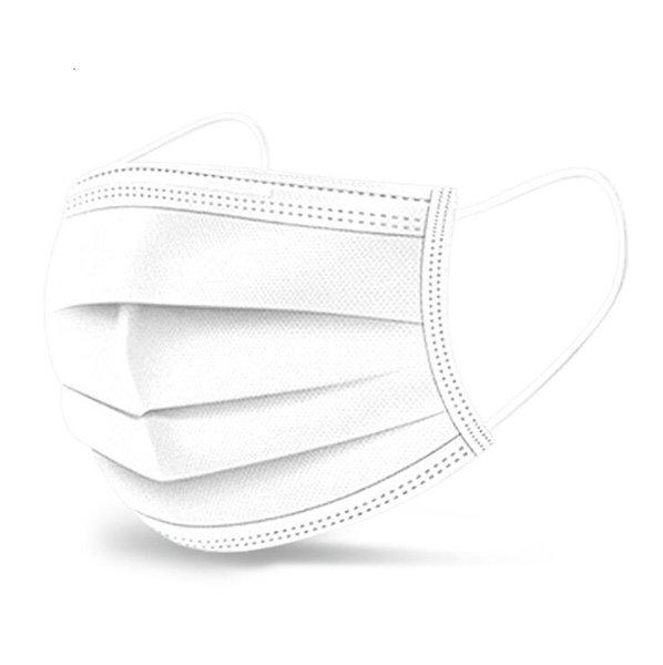 Máscaras branco descartável cara