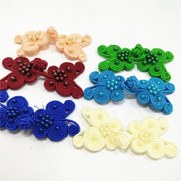 top popular 20Pairs Pack Chinese Frog Closure Buttons Knot Fastener Butterfly Type Cloth buckle Sewing Handmade Craft Cheongsam Accessories 2021
