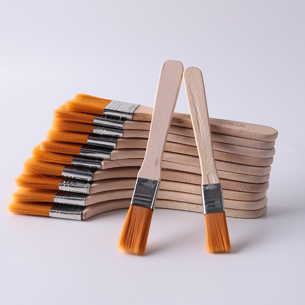 best selling High Quality Nylon Paint Brush Different Size Wooden Handle Watercolor Brushes For Acrylic Oil Painting School Art Supplies DBC 28 G2