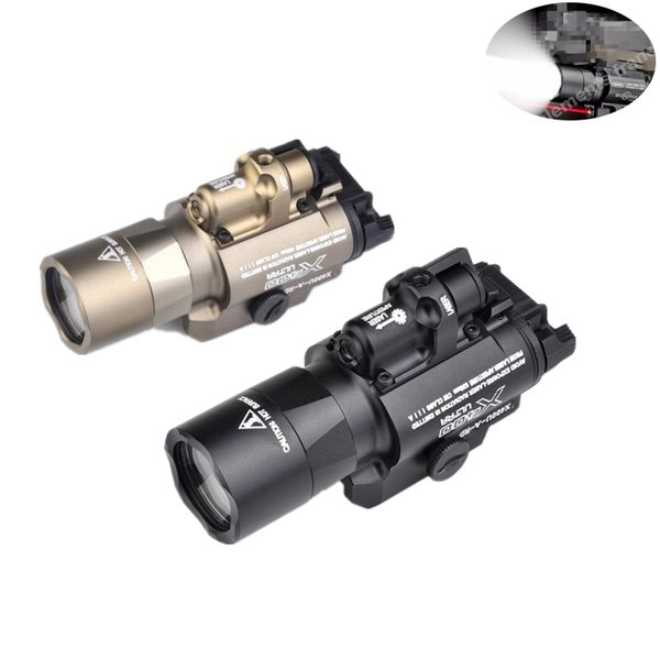 best selling Airsoft Surefir X400 Ultra Flashlight Red Laser 20mm Picatinny Weaver Rail Mount 450 lumen X400U Light