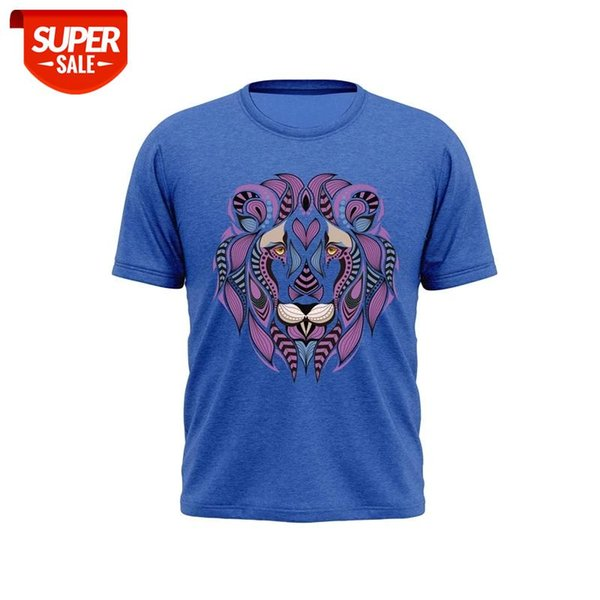 best selling Men's T-shirt Men's and Women's T-shirt Hot Pressed Line Lion Street Cotton Casual Can Be Customized XS-XXL #GI4O
