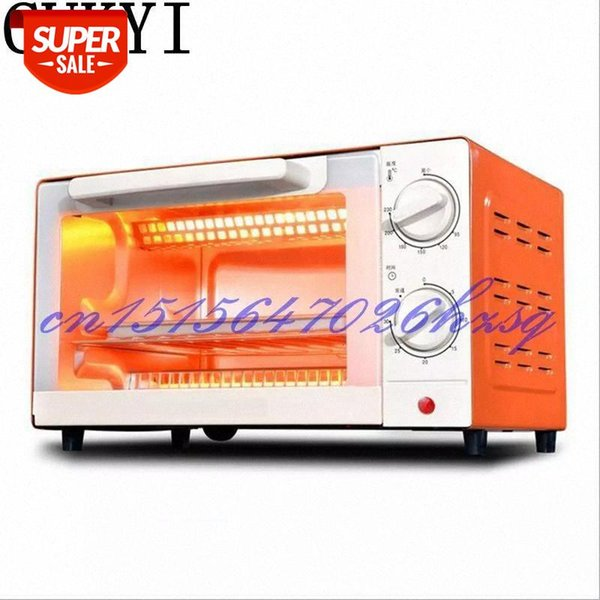 top popular CUKYI Household Electric Multifunctional Mini oven baking and 10L Temperature control Cake Two colors 1000W Stainless steel #gm1m 2021