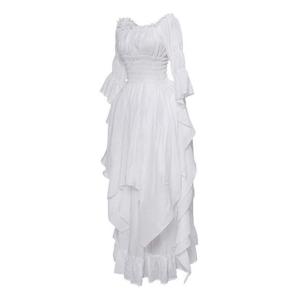 Vestito medievale bianco
