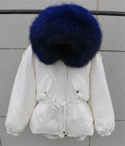 Beige And Blue Fur