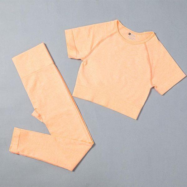 Леггинсы оранжевого бюстгальтера