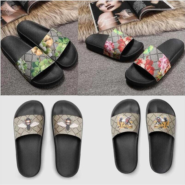 best selling new fashion Men Women sandals Ladies Flip Flops Loafers Black White Red Green Slides Shoes