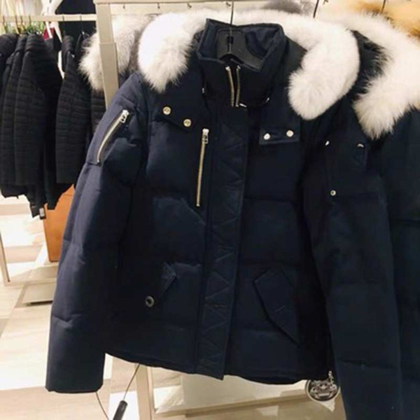 best selling Fast Ship Men Fur Collar Down Jacket Down Coats Mens Moose Down Warm Man Winter Coat Outwear Jackets Parkas Canada knuckles Doudoune