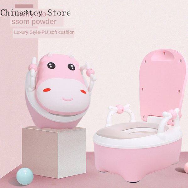best selling Extra Large Cartoon Children Portable Baby Cows Training Seat Toilet Boal Travel Potty LJ201110