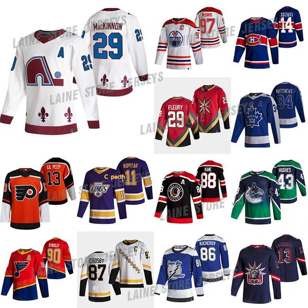 best selling Colorado Avalanche 2020-21 Reverse Retro 8 Cale Makar 29 Nathan MacKinnon Montreal Canadiens 14 Nick Suzuki 13 Lafreniere Hockey Jerseys