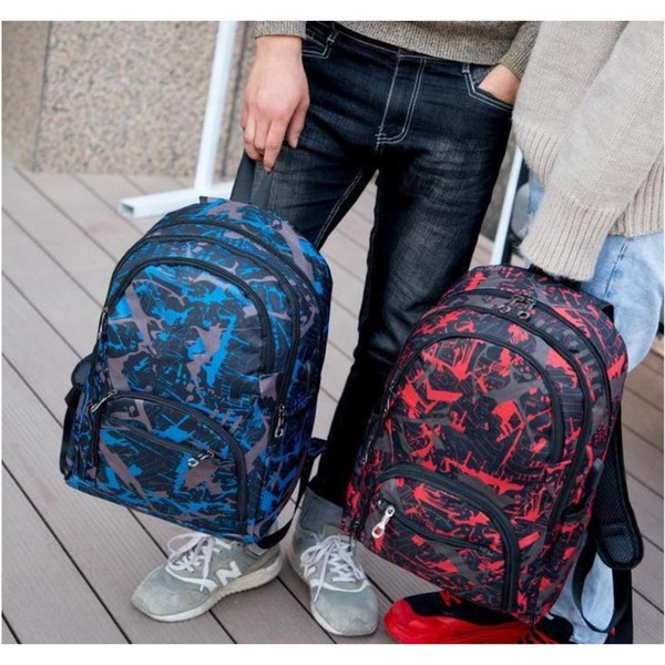 best selling 2021 Cheap outdoor bags camouflage travel backpack computer bag Oxford Brake chain middle school student bag many colors
