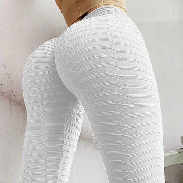 Weiße Leggings.