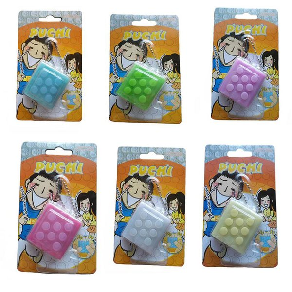 top popular Finger press sound toys Puti Bubble Pop Keychain,Bubble Wrap Puchi Puti Keyring Infinite squeeze Decompress Speaker vent Toy finger training 2021