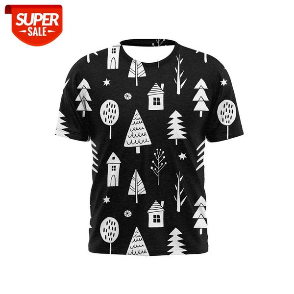 top popular 2021 new 3D printed men's T-shirt with Christmas pattern Christmas tree Fashionable and handsome T-shirts for boys and girls #8b8n 2021