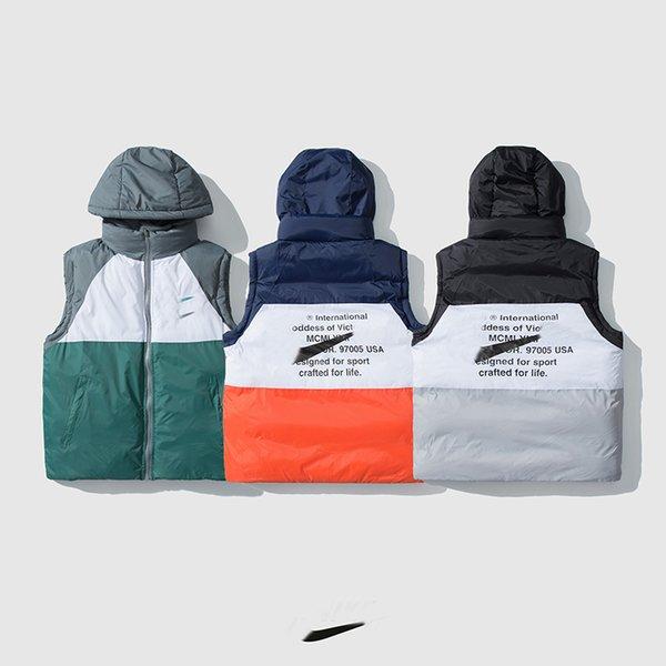 top popular 2020 High Quality Designer Men Down Vest Cotton Goose Parkas Winter Jacket Veste Homme De Luxe Fashion Classic Mens Warm Coat Clothes 2020