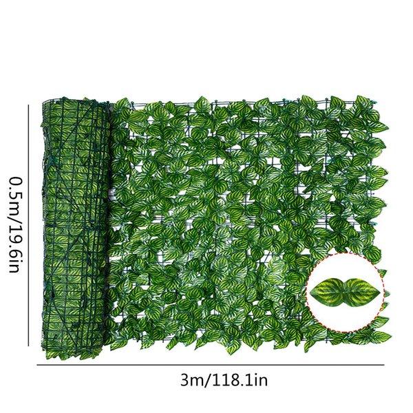 Verde con estampado amarillo 0.5x3m