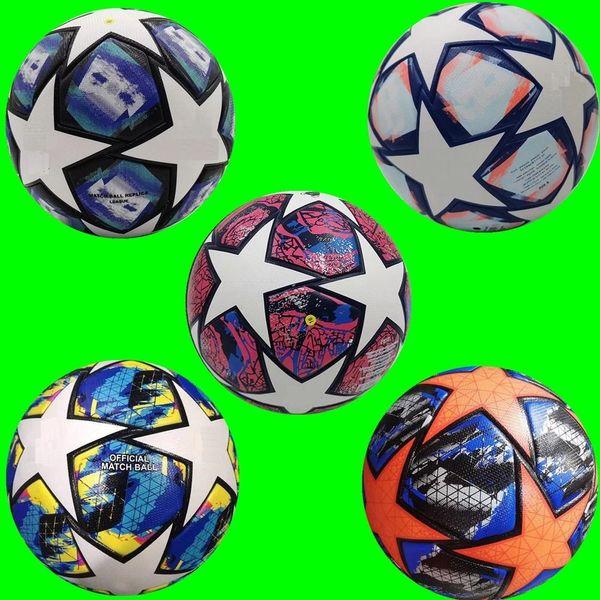 top popular 2020 2021 European champion Soccer ball 20 21 Final KYIV PU size 5 balls granules slip-resistant football Free shipping 2021