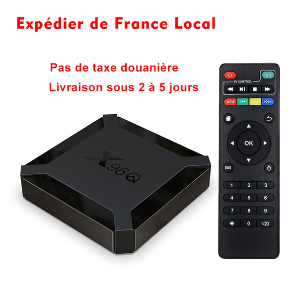best selling France Stock X96Q TV Box Android 10.0 H313 Chipset Quad Cord 2GB 16GB 4K WiFi Set Top Box