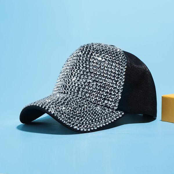 Schwarz + Silber Diamant-Tuch-Kappe