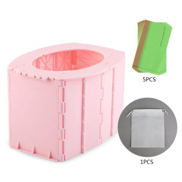 best selling Child Kids Foldable Training Travel Toilet Portable Folding Emergency Potty Seat LJ201110
