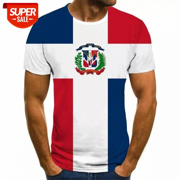 top popular 2020 3D flag printing men's t-shirt casual round neck high quality streetwear casual clothing #le3Y 2021