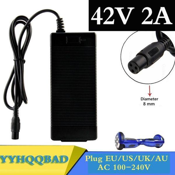 Ccessories 부품 충전기 42V 2A 유니버셜 배터리 충전기 호버 보드 스마트 밸런스 휠 36V 전력 스쿠터 어댑터 CH ...